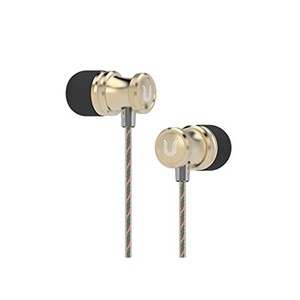 Uiisii US-80 In Ear Headphones HD Stereo Bass with Mic - Gold