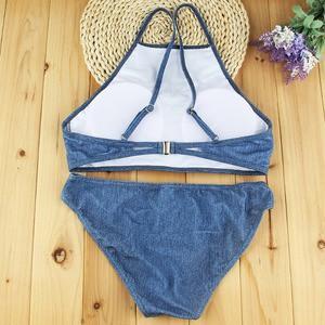 Lovebite Women Cowboy Push up Swimwear Tankini Sexy Bikini Set