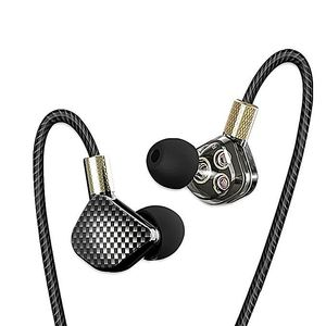 QKZ KD6 3 Dynamic Driver System Speakers HIFI Bass Subwoofer In Ear Earphone - Black