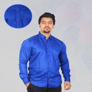 American Eagle Blue Solid Casual Shirt