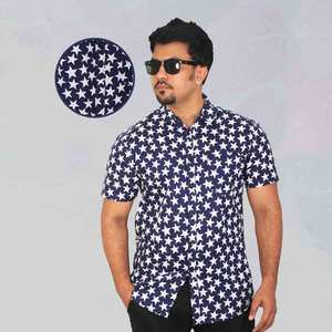 U.S. Polo White Print Casual Shirt