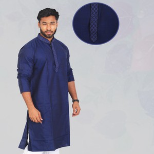Sultan Nevy Blue Long Panjabi