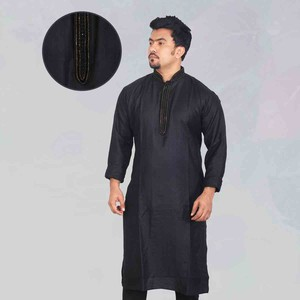 Black Gorgeous Long Panjabi RF-856