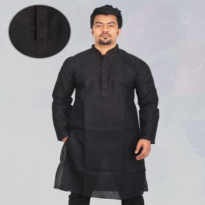 Sultan Black Long Panjabi RF-863