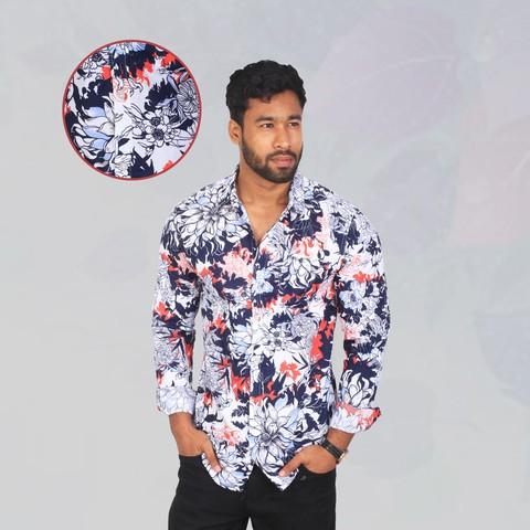 Jules Flower Slim Fit Casual Shirt