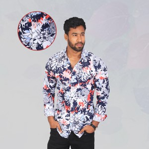 Jules Flower Slim Fit Casual Shirt