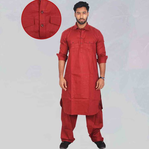 Sultan Brand Long Party pathani set