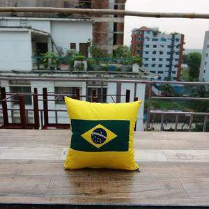 Brazilian Football Fan Cushion Cover