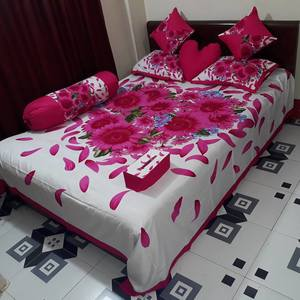 Ortha 8 pieces bedcover set - king size - Pink White
