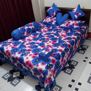 Ortha 8 pieces bedcover set - king size - Blue Pink