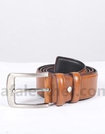 Safa Leather Safa Leather Sandy Brown Leather Casual Belt For Men