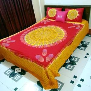 Mom-Batik Bedsheet Set - Full Stitched