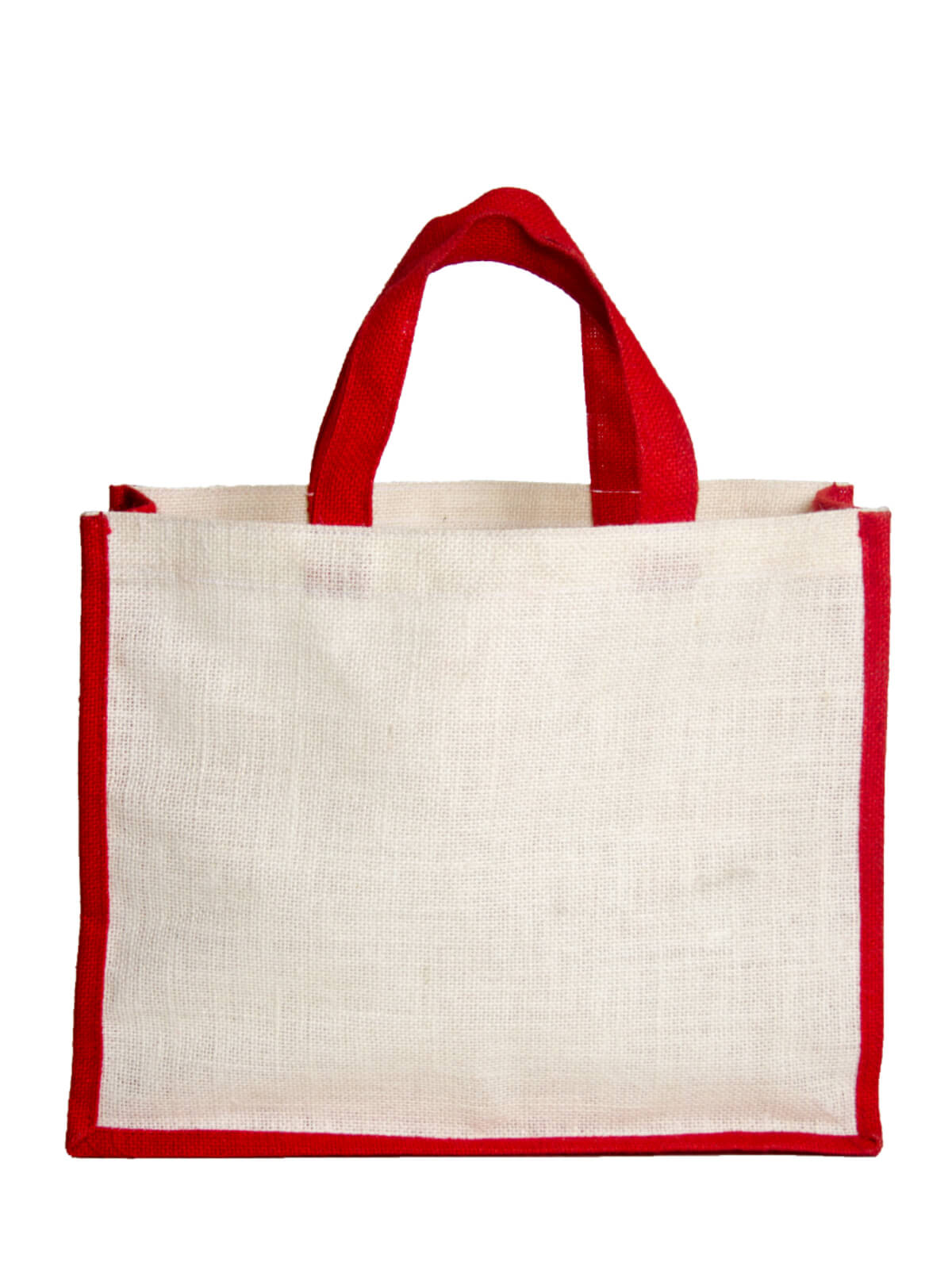 Scarlet Red and White Shopping Bag