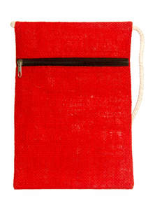 Scarlet Red and White Mobile Bag