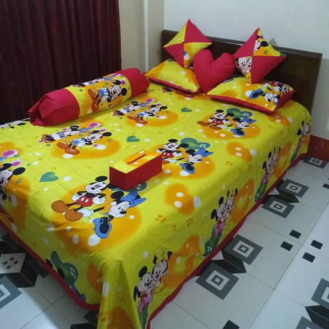 8 pieces king size cotton bedsheet set