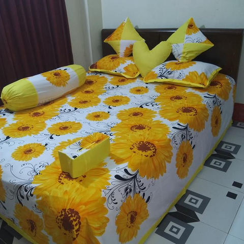 Ortha 8 pieces bedcover set - king size - Yellow