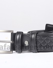 Safa Leather Black Belt For Man