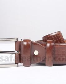 Safa Leather Chocolate Leather Belt For Man