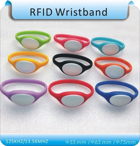 125Khz RFID Wristband Bracelet Silicone Waterproof Proximity Smart Card Watch Type for Access Control