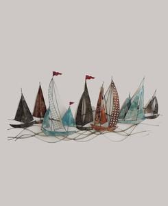 Boats Metal Wall Art