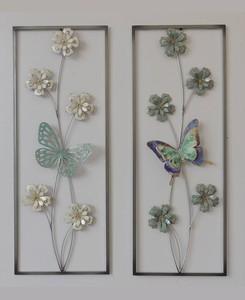Butterfly Metal Wall Art (Set of 2)