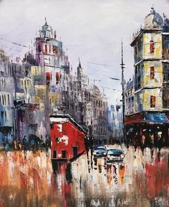 Landscape City View Oil Painting