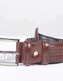 Chocolate Leather Belt For Man