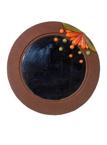 Terracotta Jute Round Mirror