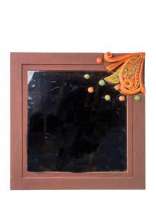 Terracotta Jute Square Mirror