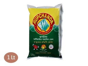 Rupchanda Soybean Oil (poly) 1 Lt