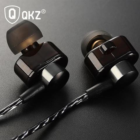 QKZ DM8 Earphones Mini Dual Driver Extra Bass