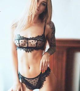 Lovebite floral lace bra set women mesh transparent wire free unlined lingerie