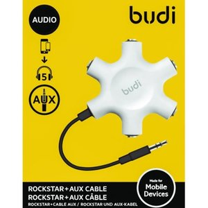 Budi 3.5mm Headphone Splitter 5 in 1 Audio Splitter