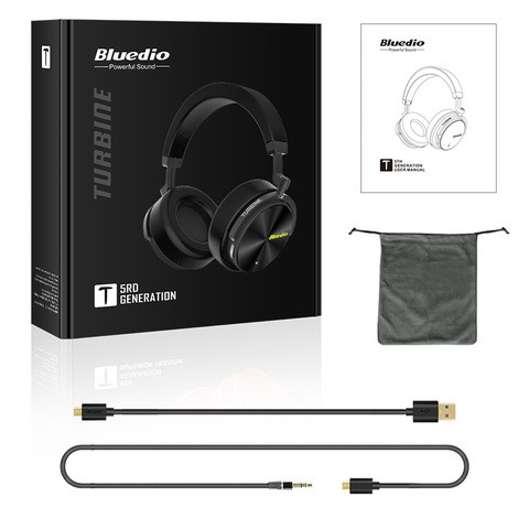 Bluedio T5 Wireless Bluetooth Headphone with Microphone - BLACK