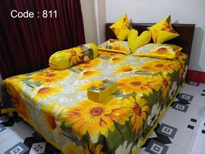Ortha 8 pieces bedcover set - Double size - Yellow