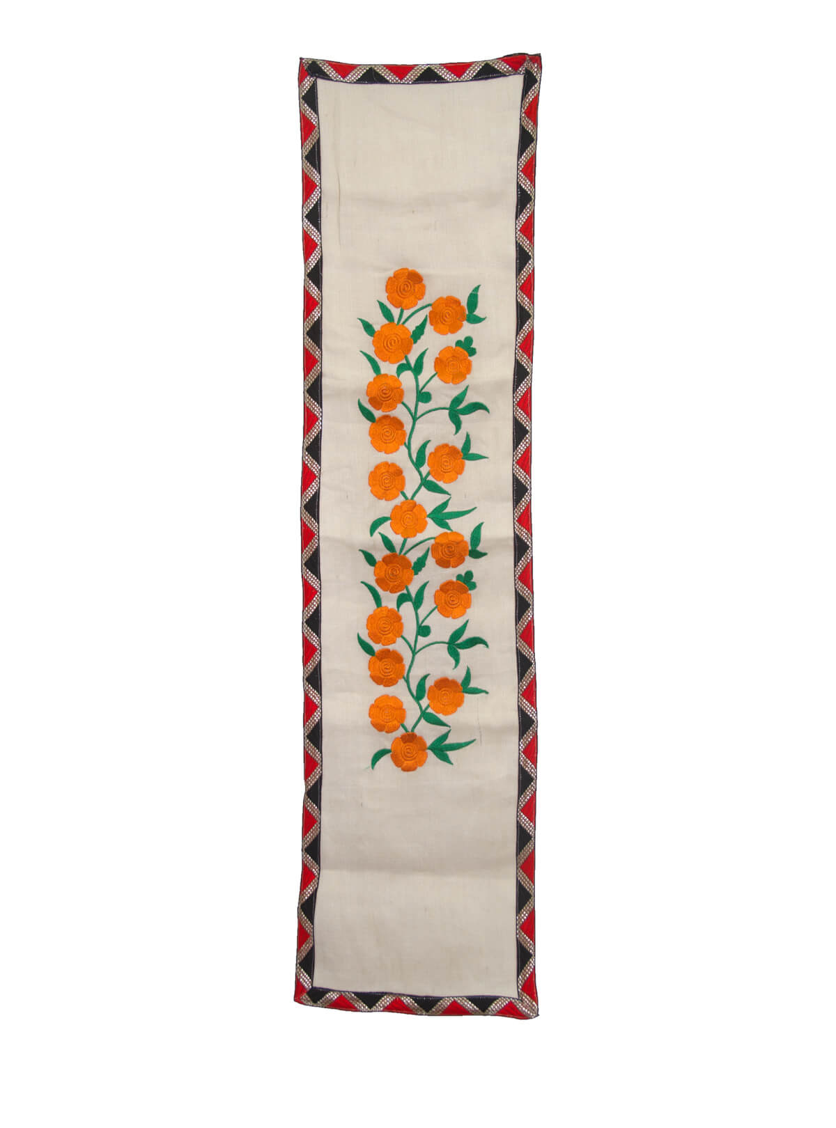 Stark White Yellow Table Runner
