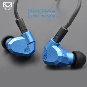 KZ ZS5 Detachable HiFi Earphones(Blue)