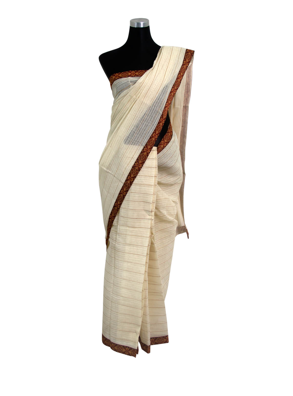 Spanish White Jute Saree