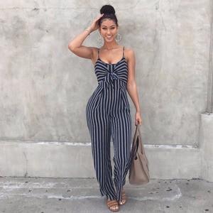 Lovebitebd Striped Spaghetti Romper Jumpsuits For Women