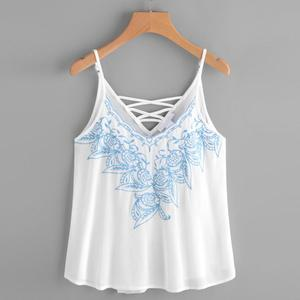 Lovebitebd Vest Embroidered Tank Tops For Women