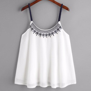 Lovebitebd Chiffon Blouse Sleeveless Tank Tops For Women