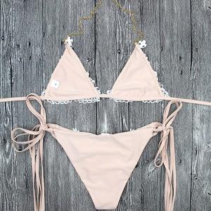 Lovebite Sexy Crochet Jewelry Bikini Set two pieces Swimsuit