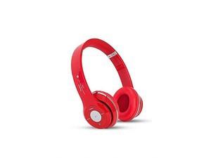 Deep BassWireless Bluetooth Headphone - Red