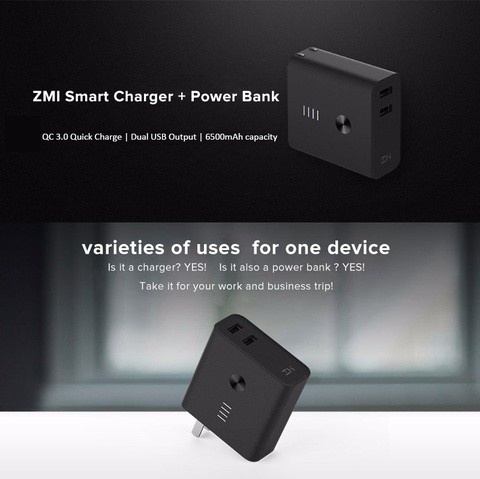 XIAOMI ZMI 6500mAH Power Bank Charger Adapter