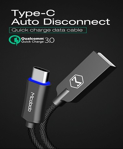 Mcdodo Smart LED Auto Disconnect Cable(Type-C/Micro Usb)