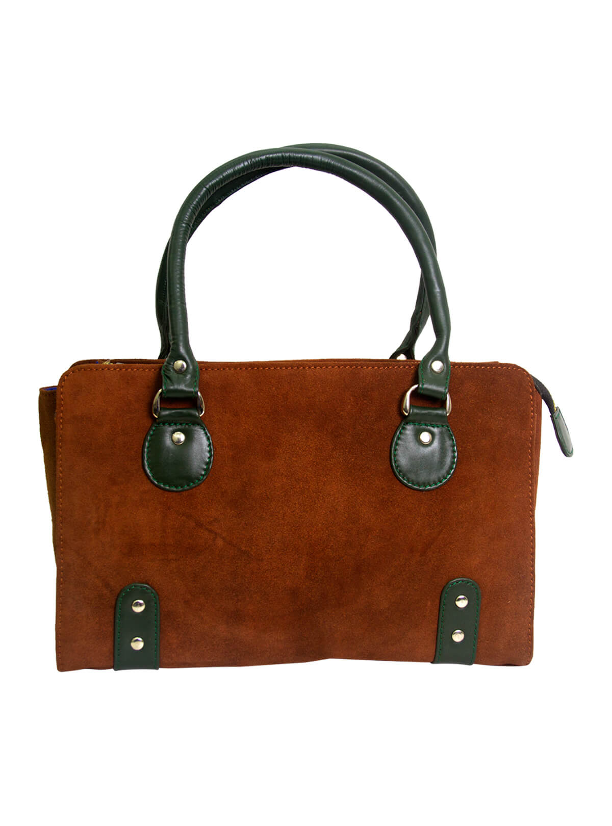 Saddle Brown Ladies Suite Leather Bag