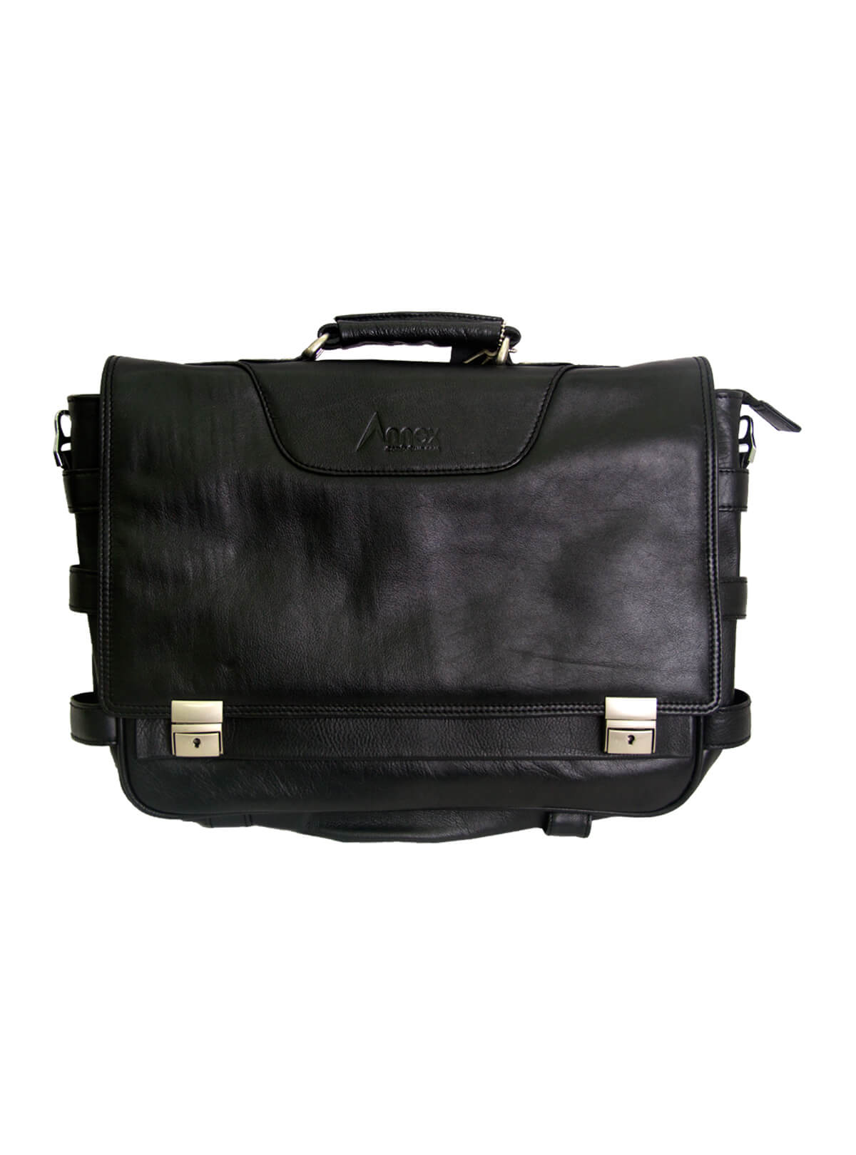 Black Smart Leather Laptop Bag