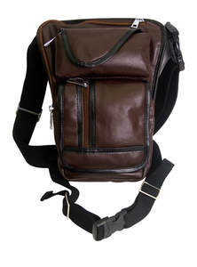 Temptress Brown Leather Leg Bag