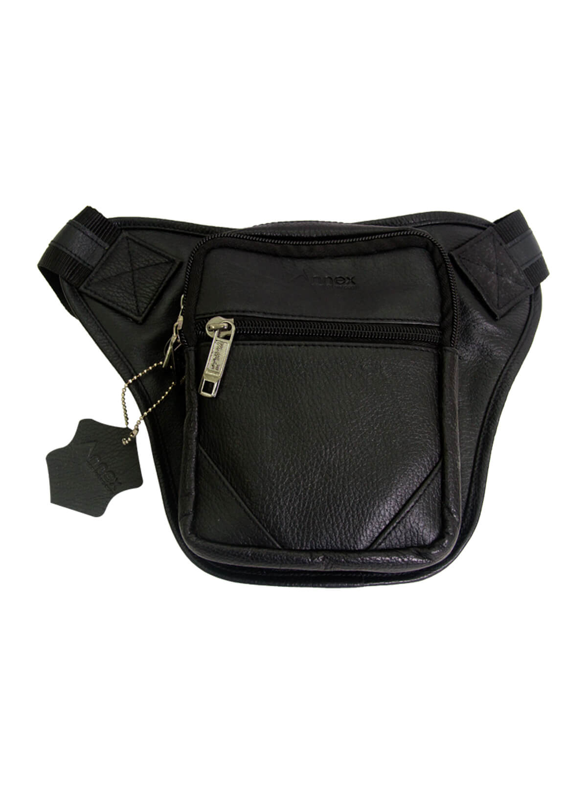 Black Biker Side Bag