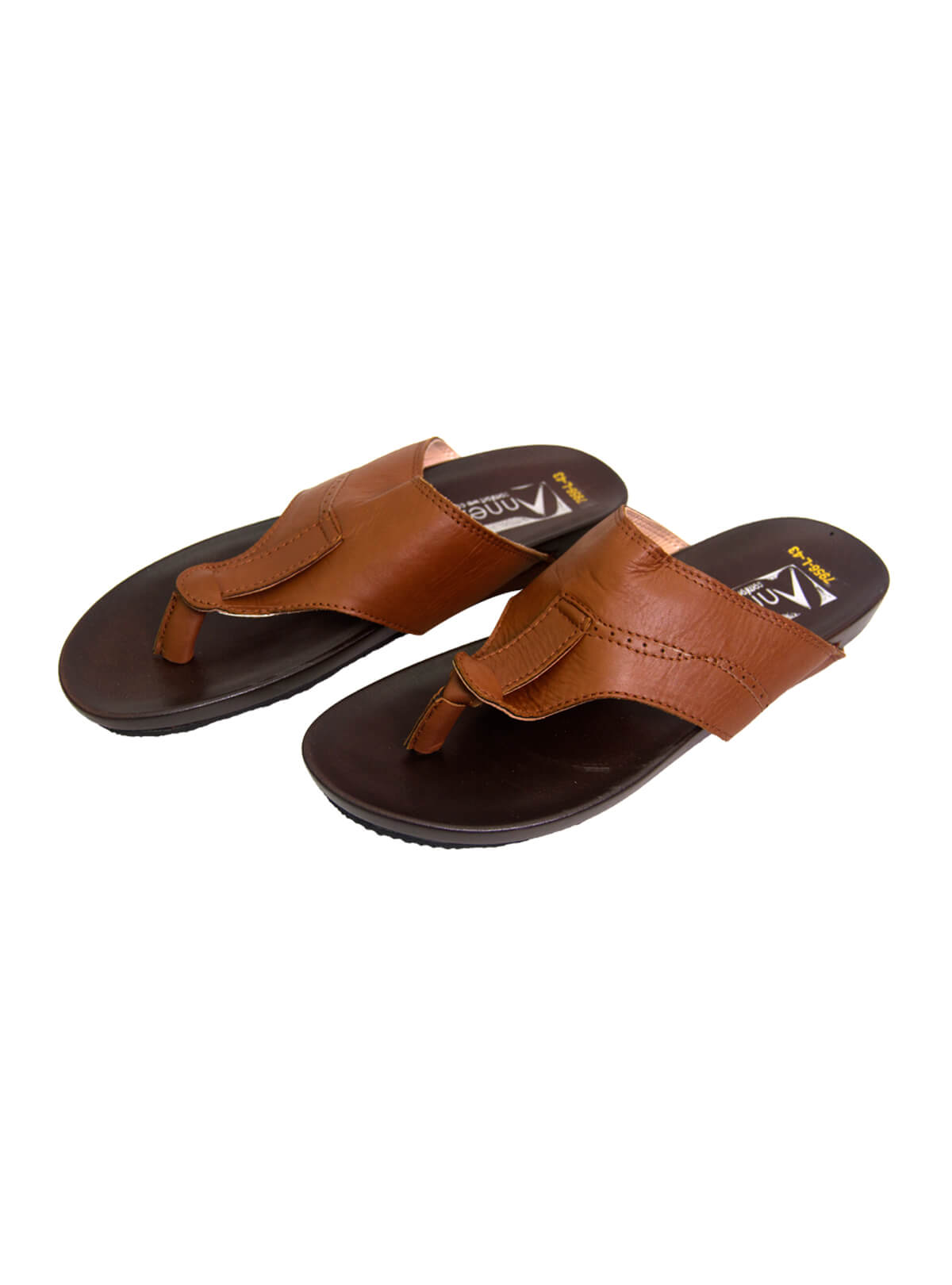Saddle Brown Complete Sole Gent's Sandal